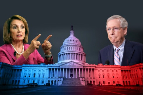 Image result for images of McConnell and Nancy Pelosi